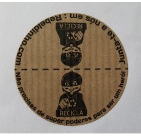 Rolo com 500 etiquetas rebeldinho