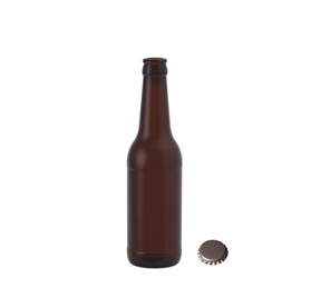 Garrafa vidro Cerveja 330ml 33cl