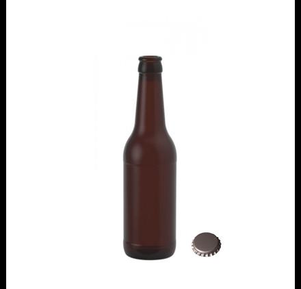 Bouteille Bière Brune 330ml 33cl