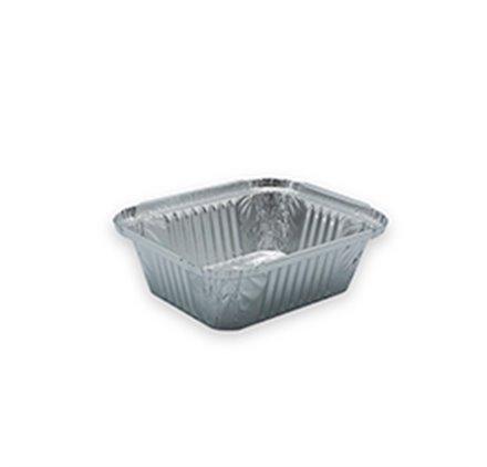 Pack 100 uni. Forma de aluminio retangular 500ml