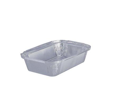 Pack 100 uni. Forma de aluminio retangular 1250ml