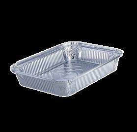 Pack 100 uni. Forma de aluminio retangular 1500ml