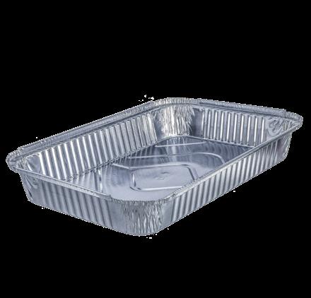 Pack 100 uni. Forma de aluminio retangular 2200ml