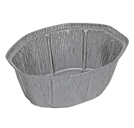 Pack 100 uni. Forma de aluminio oval 2600ml
