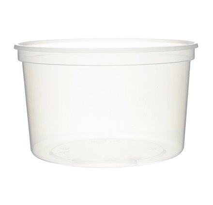 Pack 50 uni. Taça plástica sopa take away para sopa 500ml