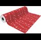 Papel embrulho linhas natal vermelho