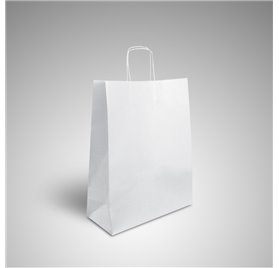 Coated paper bag 12x32x42 wing twisted