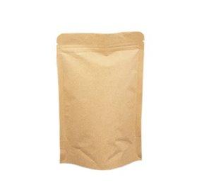Pack 100 Saco papel com barreira protetora e fundo oval 180x265mm