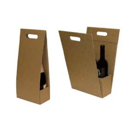 Caixa 1 2 ou 3 garrafas modelo simples