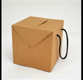 Box color natural measures 200x200x200mm