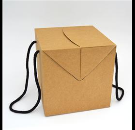Box color natural measures 250x250x250mm