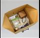Box color natural measures 300x300x300mm