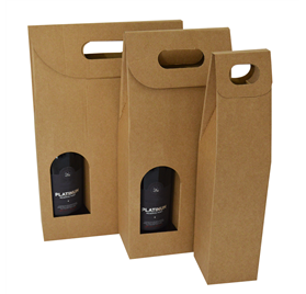 Microcanelado kort kasser til 1 flaske