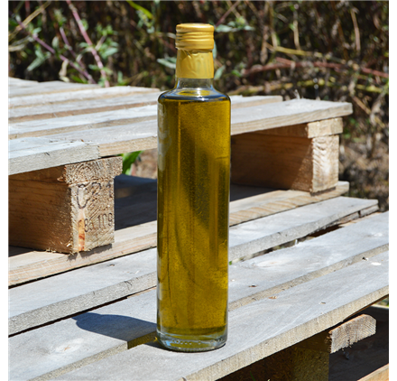 Transparent Glass Bottle Lotus 500ml
