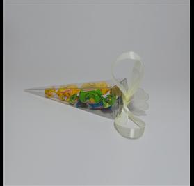 Transparent acetate box 155 mm Cone