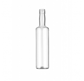 Transparent Glass Bottle Lotus 500ml