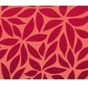 Rollo de polipropileno rojo con hojas