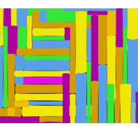 Rolo colorido retangulos
