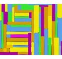Papel Polipropileno Metalizado con Rectangulos Coloridos