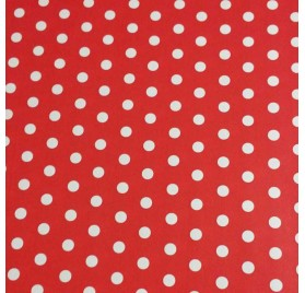Papel de embrulho vermelho pontos brancos