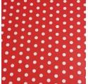 Innpakningspapir rød hvite prikker