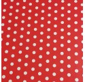 Wrapping paper red white dots