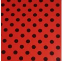 Paper red wrapping black spots