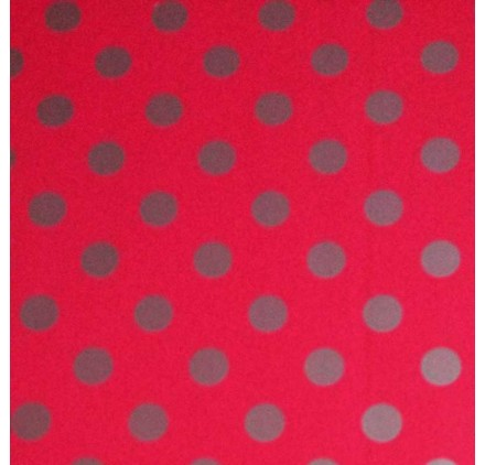 Papel de embrulho vermelho pontos prata