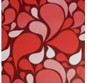 Papier d'emballage abstrait rouge