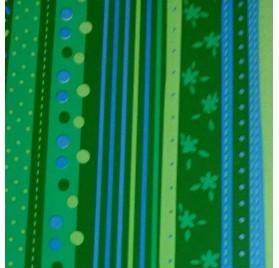 Papel de embrulho floral verde