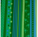 Papier d'emballage floral vert