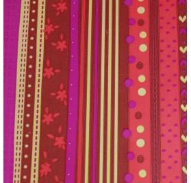 Papel de embrulho floral vermelho