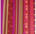 Red floral balicí papír