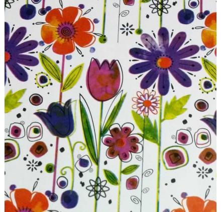 Papel de embrulho florido