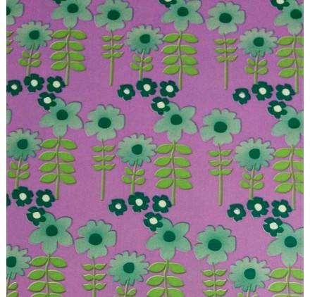 Papel de embrulho jardim de flores lilaz