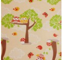 Children wrapping paper forest