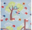 Papel de embrulho infantil bosque azul