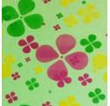 Polipropileno transparente trevos coloridos 70cm 50 metros