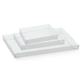 Caixa cassete transparente para bombons e chocolates 90x60x20mm