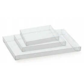 Caixa cassete transparente para bombons e chocolates 225x175x20mm