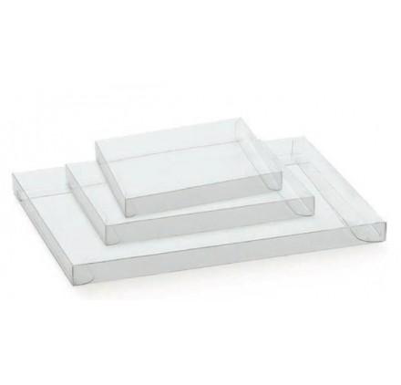 Caixa cassete transparente para bombons e chocolates 155x115x20mm