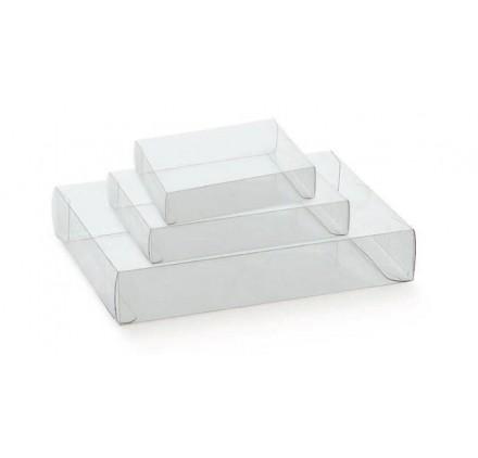 Caixa cassete transparente para bombons e chocolates 195x140x40mm