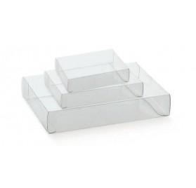 Caixa cassete transparente para bombons e chocolates 120x90x40mm