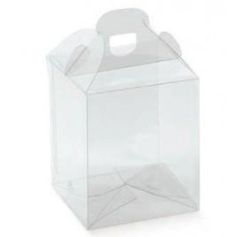 Caixa transparente mala para cupcakes 90x90x100mm