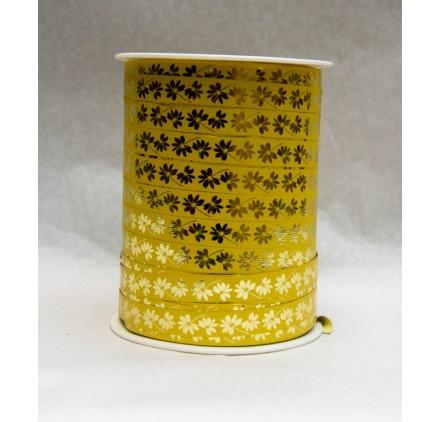 Fita embrulho flores amarela