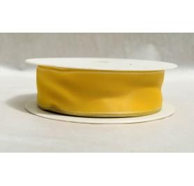 Fita tafeta amarela aramada