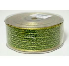 Fita lipari verde com rebordo dourado