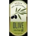 Étiquette de bouteille d'huile d'olive 1