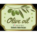 Olivový olej láhev popisek 3