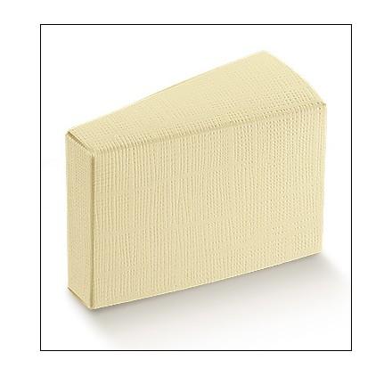 Caixa seta avorio fetta torta 80x45x50mm